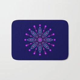 Space Flower Blue Bath Mat