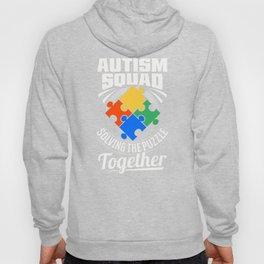Autism Awareness Squad Solving Puzzle Together Cute Autistic Crew Hoody