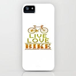 LIVE - LOVE - BIKE iPhone Case