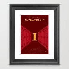 No309 My The Breakfast Club minimal movie poster Framed Art Print