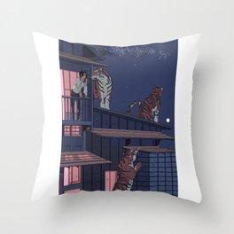 Tiger Playhouse Throw Pillow