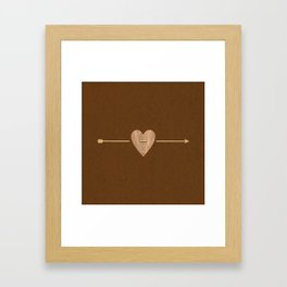 Rustic Brown Heart & Arrow Framed Art Print
