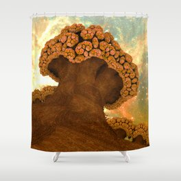 Broccoli Planet in Fall Shower Curtain