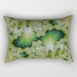 the green of spring abtract  Rectangular Pillow