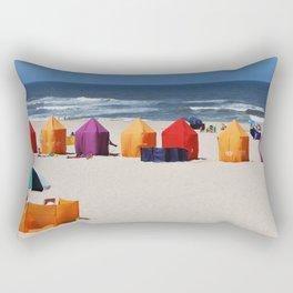 Colors on a beach Rectangular Pillow