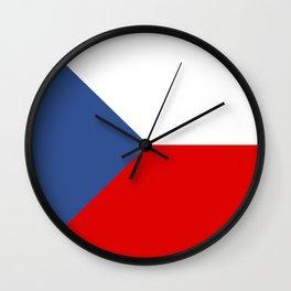 Czech Republic country flag Wall Clock