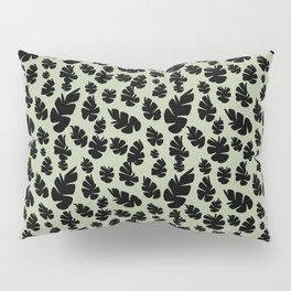 Green Pinecone Floral Pillow Sham