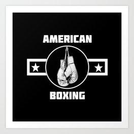 American Boxing Art Print