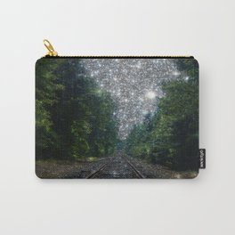 Train Tracks Sparkling Dream : Next Stop Anywhere Carry-All Pouch