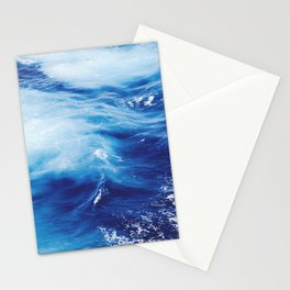 Navy Blue Ocean Wave Stationery Cards
