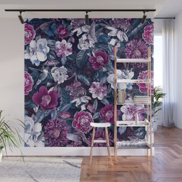 Floral Night Wall Mural