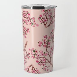 Sakura Branch Painting Travel Mug