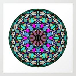 Meditation medallion. Art Print