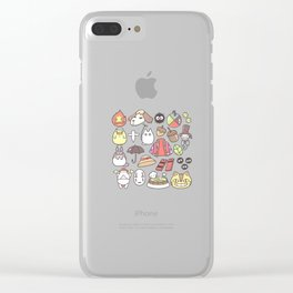 ghibli collage Clear iPhone Case