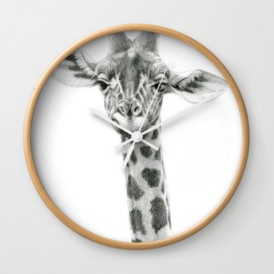 Young Giraffe  G2012-053 Wall Clock