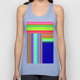 Re-Created  Parquet 8 by Robert S. Lee Unisex Tank Top