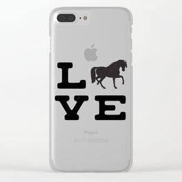 Horse Pony Riding Frieze Haflinger Saddle Gift Clear iPhone Case