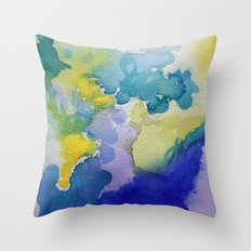 I dream in watercolor A Throw Pillow