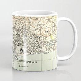 Vintage Map of Santa Barbara California (1944) Coffee Mug