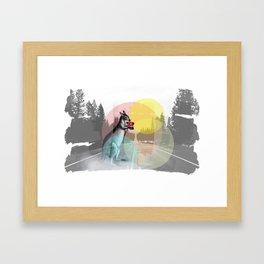 Bring you flowers Framed Art Print