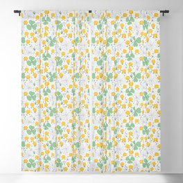 Orange Chicks on a Gray Background Blackout Curtain