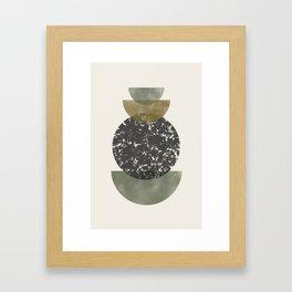 Modern Shapes Framed Art Print