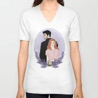 lydia martin V-neck T-shirts featuring Derek Hale/Lydia Martin by vulcains
