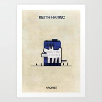 keith haring Art Prints featuring Keith Haring by federico babina