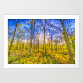 Warm Forest Art Art Print