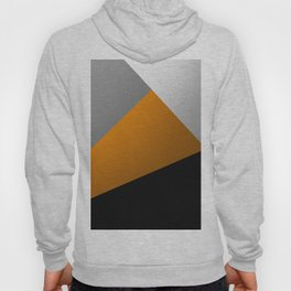 Metallic I - Abstract, geometric, metallic textured gold, silver and black metal effect artwork Hoody