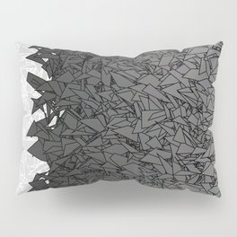 Ombre White and Black Urban Camouflage Pillow Sham
