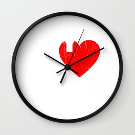 """My Heart Belongs To A Pilot"" T-shirt Design For A Proud Wife To Her Airplane Pilot Husband Sky Wall Clock"