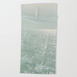 The Silver Sea Beach Towel