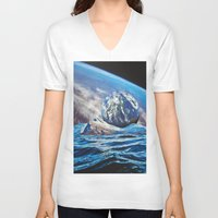 planets V-neck T-shirts featuring Planets by John Turck