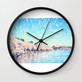 Cherry Blossoms in Spring Wall Clock