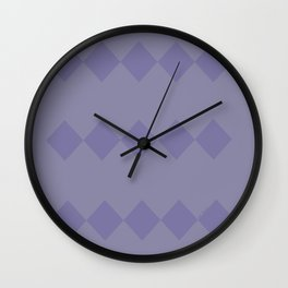 Purple Diamond Design Wall Clock