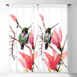 Hummingbird and Magnolia Blackout Curtain