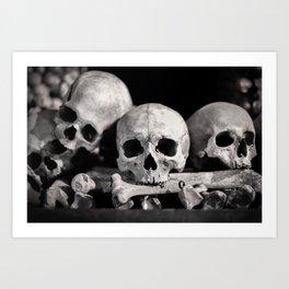 Skulls And Bones Art Print