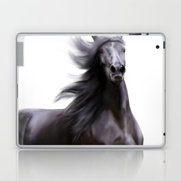 Black running horse Laptop & iPad Skin