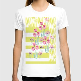 Tulips with yellow stripes T-shirt
