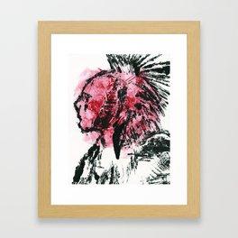 Native American Monotype Framed Art Print