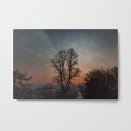 Starry Norwegian winter night Metal Print