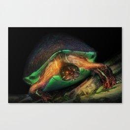 Sea Turtle Illustration Oil Painting Graphic Design Wildlife Art Animal Decor Nauture Beach Ocean  Canvas Print