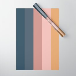 Minimal Retro Sunset - Neutral Wrapping Paper