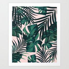 Tropical Jungle Leaves Pattern #5 #tropical #decor #art #society6 Art Print