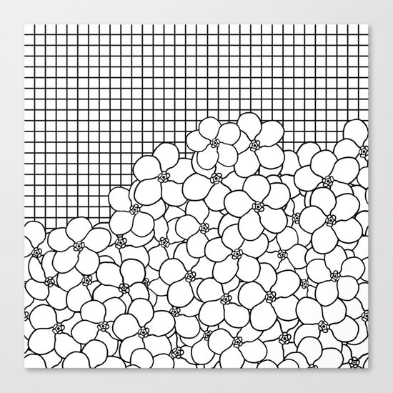 Forget Me Knot Grid Canvas Print