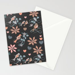 Birds in Peach Stationery Cards