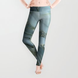 Slate Blue Lace Agate Leggings