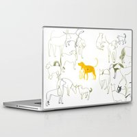 dogs Laptop & iPad Skins featuring DOGS by Sara Stefanini
