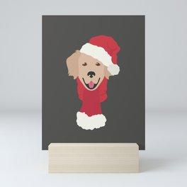 Golden Retriever Christmas Dog Mini Art Print